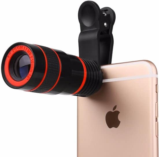 #4. Lenzenset of zoomlens voor smartphone