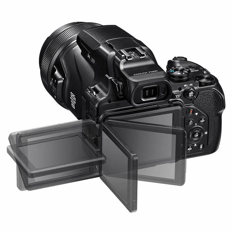 Nikon Coolpix P1000 compact camera Zwart visdief b